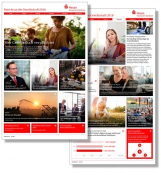 "Webmagazin ""Bericht an die Gesellschaft"" 2018 und ""Nichtfinanzieller Bericht 2018"""